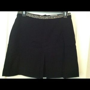 H&M Silver Beaded Waist Formal Mini Skirt